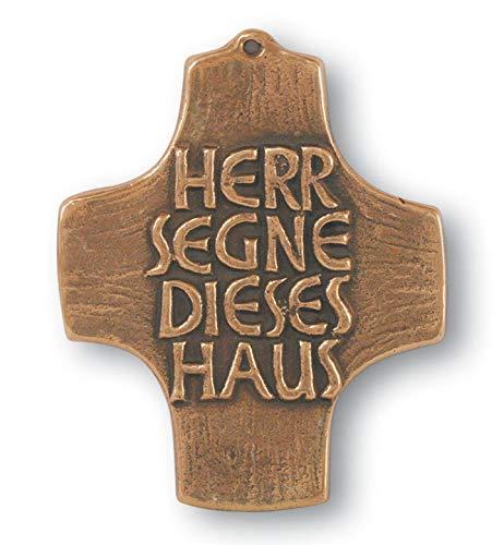 Butzon & Bercker Haussegen Herr segne Dieses Haus 10 cm Bronze