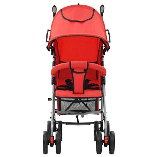 Passeggino Compatto e Leggero, Passeggino da viaggio Passeggino Pieghevole per Bambini da 0-36 Mesi, fino a 15 kg, 2 in 1 Passeggino Carrozzina pieghevole, 88 x 47 x 100 cm, Rosso
