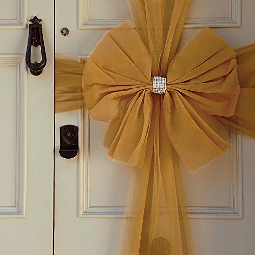Oaktree UK Large Luxury Christmas Door Window Bow 4 Colours Xmas Baby Shower Wedding (Silver)