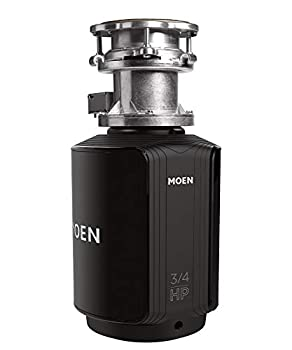 Moen GXB75C Batch Feed 3/4 HP Garbage Disposal with Safer Controlled Grinding, Power Cord included review