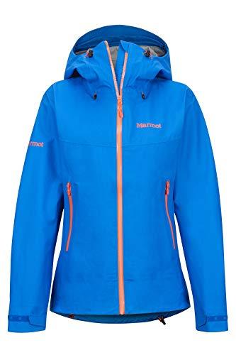 Marmot Wm s Starfire Jacket Giacca Antipioggia Rigida, Impermeabile, Antivento, Impermeabile, Traspirante, Donna, Clear Blue, S