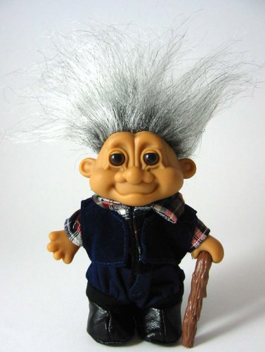 Russ Berrie My Lucky Old Man Grandpa 6' Troll Doll