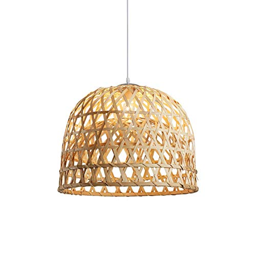 Berlato Pendant Light Hand-Woven from Bamboo Pendant lamp Adjustable Height Creative Design Lampshade Personalized Hanging lamp Rattan Chandelier Pendant for Dining Room Bedroom