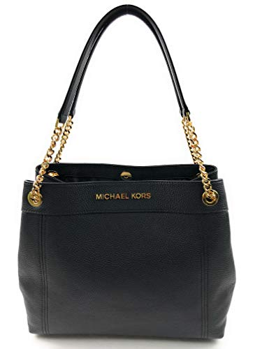 Michael Kors Large Leather Tote Snap Closure with Gold Tone Hardware Triple Compartment Design with one Zip Center Compartment and Two Open Compartments Interior Features Custom Michael Kors Fabric Lining, 1 Zip Pocket, and Two Slip Pockets Double Le...