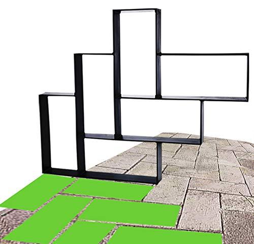 23.6' x 13.8' x 1.6' Walk Maker Reusable Concrete Molds Path Maker Stepping Stone Paver Lawn Patio Yard Garden DIY Walkway Pavement Cement Brick Moulds (Combo Brick)
