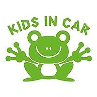 imoninn KIDS in car ステッカー 【シンプル版】 No.22 カエルさん (黄緑色)