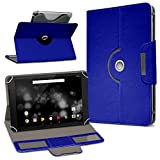 UC-Express TrekStor Primetab P10 Tablet Hülle Tasche Schutzhülle Case Schutz Cover Drehbar, Farbe:Blau