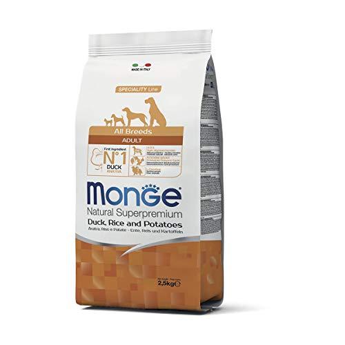 Monge Natural Superpremium Speciality Line Adult con Anatra, Riso e Patate da 2,5 kg