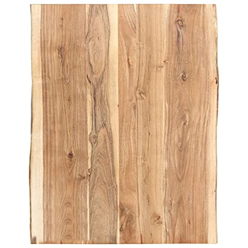vidaXL Legno Massello di Acacia Piano del Tavolo Ripiano Superiore Piano di Appoggio per Tavolo Accessori per Tavole Ricambi 80x(50-60) x3,8 cm