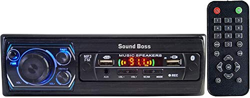 Sound Boss Double USB/SD/Bluetooth/AUX/FM/MP3 Charge pro+ Car Stereo (Single Din)