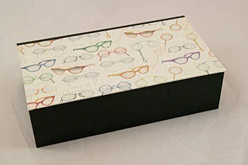 Brillenkästchen für 5 Brillen, Brillenaufbewahrung, Sortierkiste, Kästchen