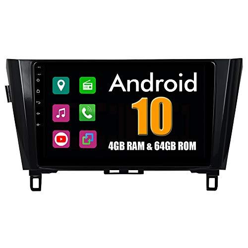 Roverone 10,2 Pouces Android 6.0 Octa Core pour Nissan Qashqai 2014 2015 Autoradio avec système GPS de navigation radio stéréo Bluetooth Mirror Link Full écran tactile