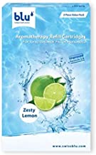blu Aromatherapy Refill Cartridges for Ionic Shower Filter Handheld 3 Piece Value Pack - Zesty Lemon