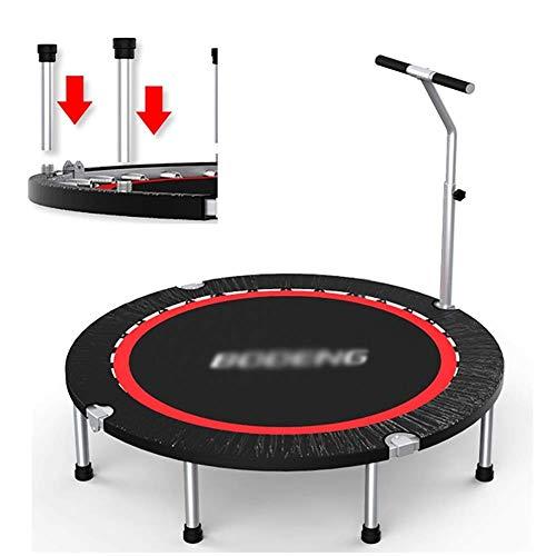 Trampoline binnenshuis met leuning, opklapbare fitness, diameter 48 inch springbed voor kinderen volwassenen, mini-oefening