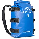 Acrodo Floating Waterproof Dry Bag Backpack - 15 Liter Outdoor Rucksack for Tactical, Survival, Camping & Hiking, Strong & Durable Bug Out Bags & Bagpack for Prepping & Waterproofing Supplies