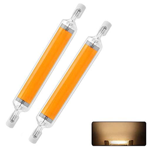 LED R7s 118mm Leuchtmittel 20 W Ersatz 160 W Halogen Birne Sicherheit Led Lampe,360° Abstrahlwinkel,Gute Dissipation,2PCS 3000K Warmweiß R7S COB LED Glühbirnen Dimmbar für Wandleuchte,Warmweiß