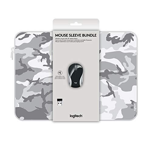 Logitech - Sleeve Bundle - Mini Mouse Inalámbrico M187 + Funda para Laptop 14' - Negro