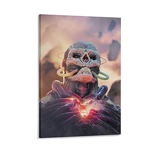 Attacking Giant Super Realistic Poster The Etherean Modern Poster Art Paintings on Canvas for Home Room Office Wall Decoration 12x18inch(30x45cm)