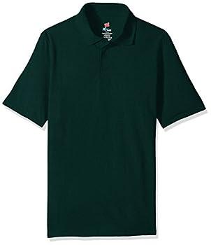 Hanes Men s Short Sleeve X-Temp W/ FreshIQ Polo Deep Forest Large