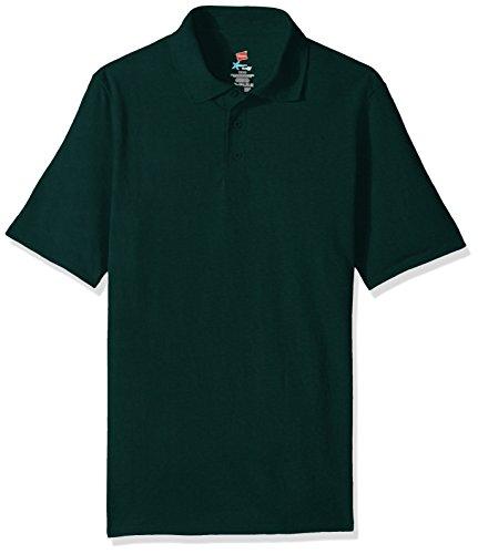 Hanes Men's Short Sleeve X-Temp W/ FreshIQ Polo, Deep Forest, X-Large