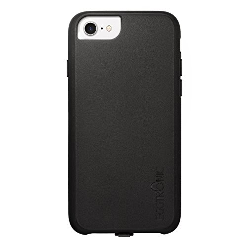 Eggtronic Leather Wireless Charging Case - Cover Ricarica Wireless in Pelle Universale per iPhone 6 / 6S / 7 (Black - Nera)