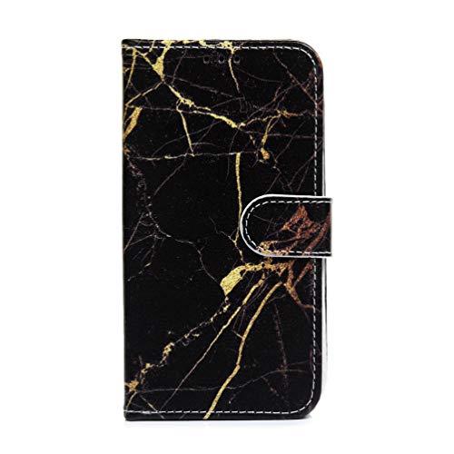 Galaxy M21 M31 Handyhülle Handytasche für Samsung Galaxy M21 M31 Hülle Case PU Leder Flipcase Tasche Schutzhülle Ständer Geldklammern Magnet Klapphülle Schale Bumper hardcover Schwarzgoldmarmor