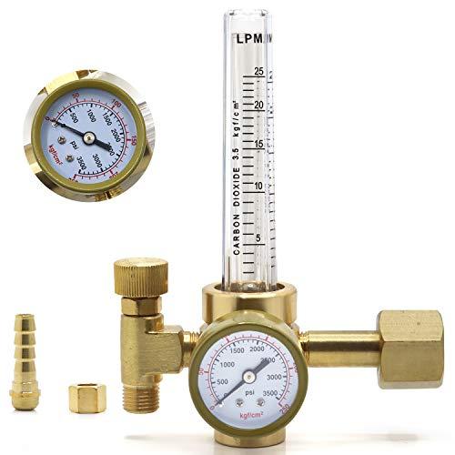 GESTONG CO2 gas regulator Full Copper Flowmeter MIG/TIG Welding Gas Regulator Valves Welding Accessory for Mig/Tig Welding Machine