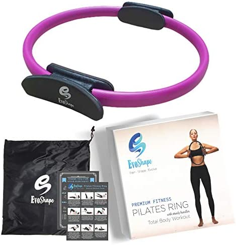 EvoShape 15 Pilates Ring Magic Fitness Circle Purple in Color Home Workout Exercise Equipment product image