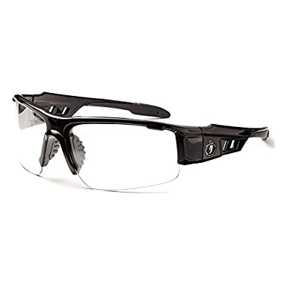 Ergodyne Skullerz Dagr Anti-Fog Safety Glasses-Black Frame, Clear Lens