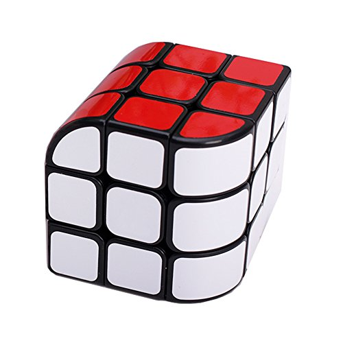H XD GLOBAL New Structural Design of Curved Trihedron Magic Cube 3x3x3 Puzzle Cube Black