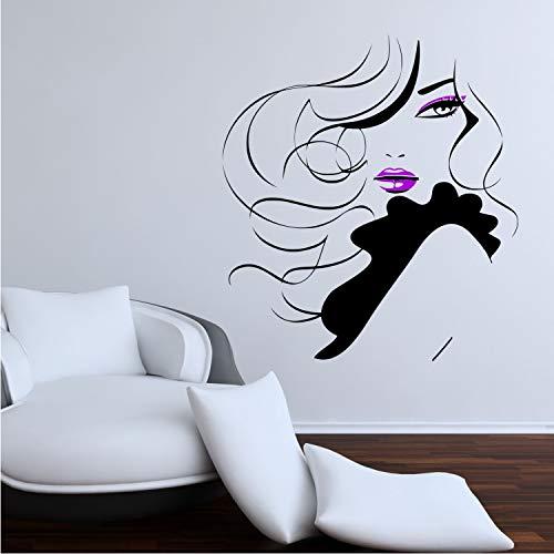 Melissalove A536 - Pegatinas de Pared para salón de Belleza, diseño de Chica Sexy