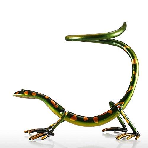 Divertido soporte para botellas de vino Gecko de hierro, para decoración del hogar, manualidades