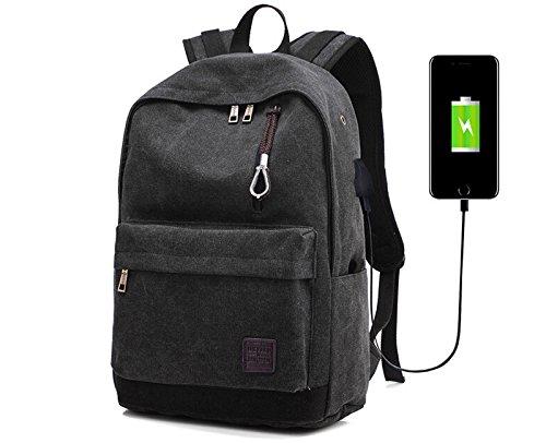 Doingbag Hiking Backpack 35L Laptop Compartment for Camping Travel Bag Weekender bag(Black)