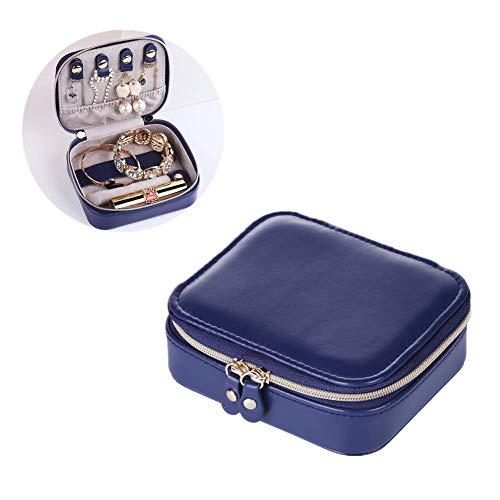 Cajas para Joyas joyero Viaje Joyería de Encanto de Caja Exhibición de la joyería Pendiente de la Caja de Almacenamiento Multifunción Caja de joyería Dark Blue