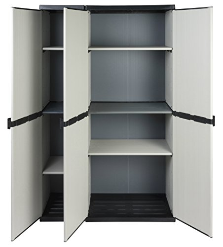Modularer Universal Kunststoffschrank 2 in 1 mit DREI Türen und höhenverstellbaren Böden. Robuste...