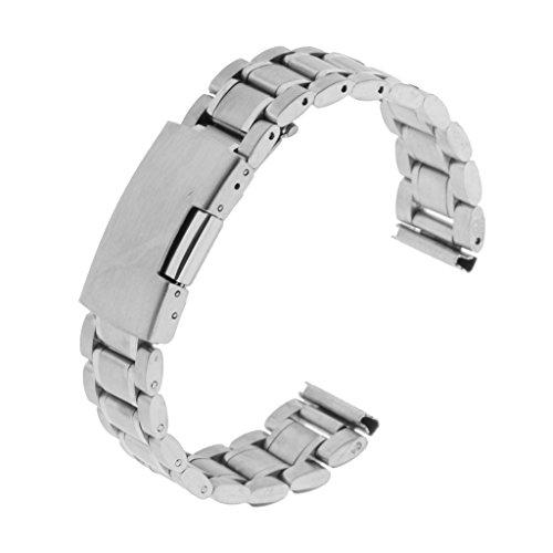 Sharplace Cinturino per Orologio, Acciaio Inossidabile, Larghezza 18 Mm / 20 Mm / 22 Mm / 24 Mm - Argento