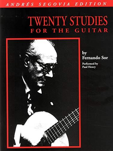 Sor Edited Segovia 20 Studies For Guitar Book -Album-: Noten für Gitarre: Book Only