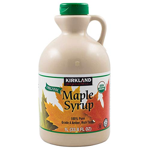 pure maple syrups Kirkland Signature Organic Pure Maple Syrup, 33.8 oz (Pack of 2, Total 67.6 oz , 33.8 oz Each)