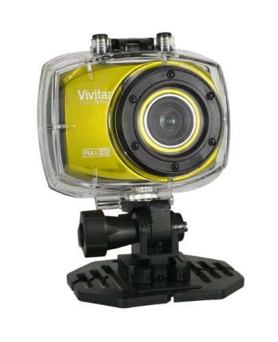 1080p waterproof Action camcorder Full HD Vivitar DVR787HD 12.1Megapixel fotocamera digitale in giallo (12.1mp, zoom 4x, telecomando incluso, 6,1cm touch screen, involucro subacqueo testato a 30piedi)