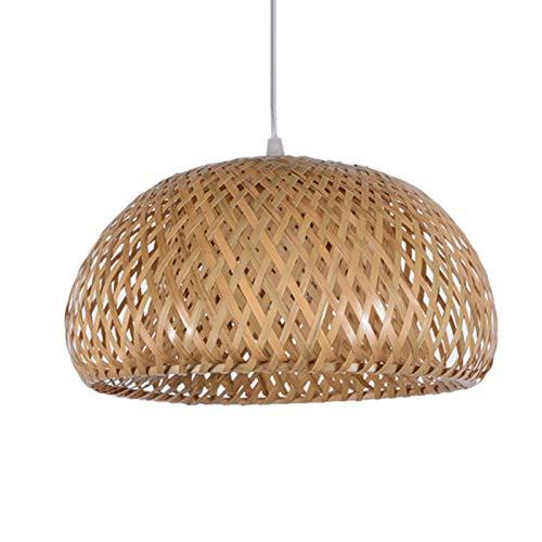 Wivarra bamboe rieten rotan lampenkap met de hand geweven dubbele laag bamboe koepel lampenkap Aziatische rustiek
