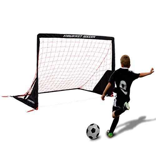 Rukket Portable Soccer Goal | Kids Youth Practice Foldable/Pop Up Soccer Net (6x4ft)