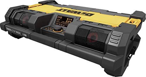 Dewalt Tough-Box Radio DWST1-75659 (DAB+ und AM/FM Baustellen-Radio, Bluetooth kompatibel, USB, AUX, 6 Lautsprecher, IP54, Ladefunktion für Dewalt Akkus 10.8-18V)