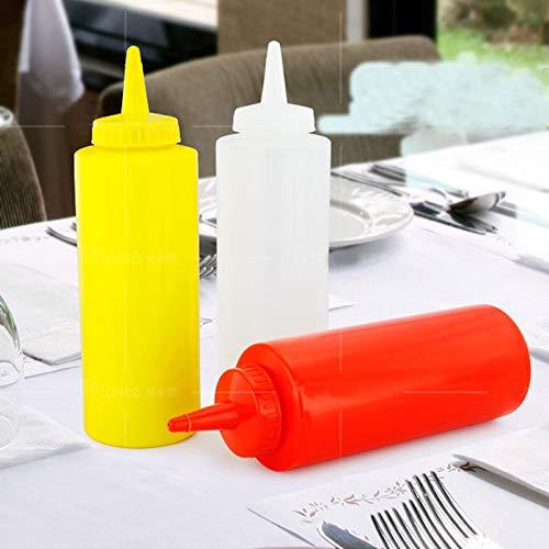 Great Deal! 3pcs/sets Non-Spray Empty Plastic Squeeze Bottle condiment bottles set kitchen Barbecue ...