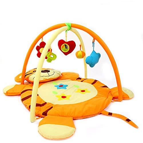 ZXJ Baby Gym Activity Play Mat Alfombrilla De Juego Infantil con 5 Juguetes Desmontables para Recién Nacidos Centro De Niñas Y Niños De 0 A 12 Meses