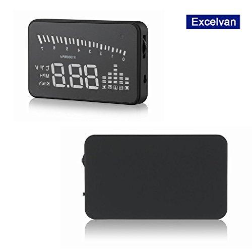 Excelvan x5 HUD Head-Up Displayer proiettore per auto, indicatori di velocità schermo, display digitale di consumo di carburante, interfaccia obd diagnostici