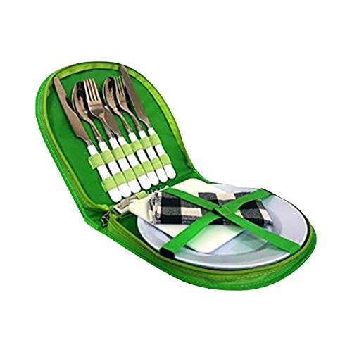 Picknick Set Camping Werkzeuge 13-teiliges Komplettes Campinggeschirr Und Besteck Für 2 Personen Kochgeschirr Camping-Besteck-Geschirr-Set Survival Outdoor