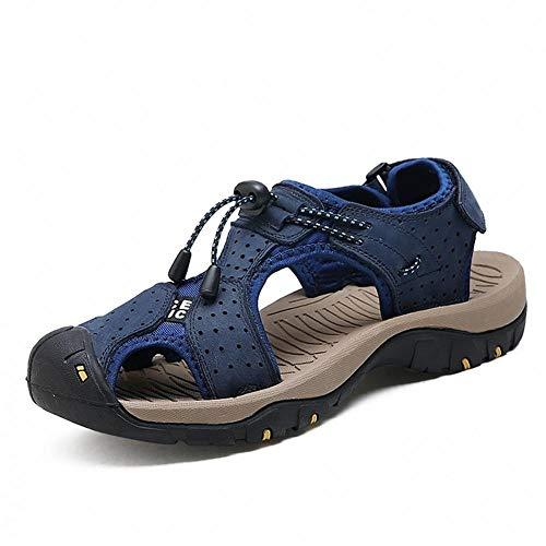 Sommer Männer Schuhe Herren Leder Sandalen Mode Flache Sandalen Für Männer Männer Sandalen Strand Sandalen Schuhe-7 UK