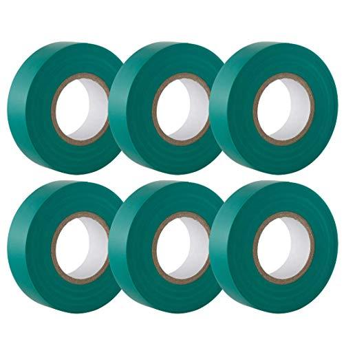 GTSE Cinta aislante eléctrica de PVC verde, 19 mm x 20 m,...