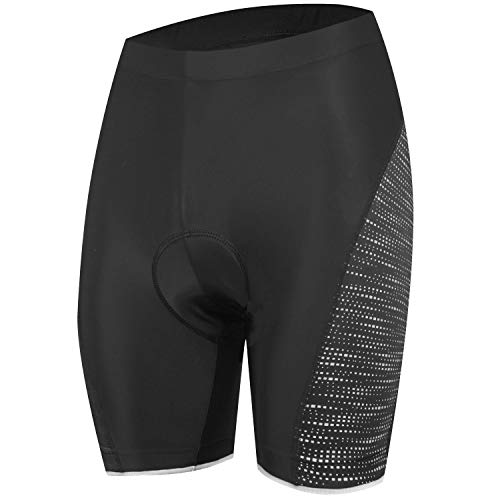 NOOYME Padded Bike Shorts Women 3D Padding Bicycle Womens Cycling Shorts (Large, Black)