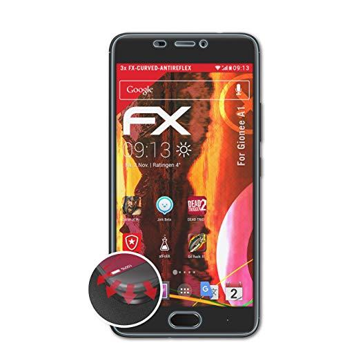 atFolix Schutzfolie kompatibel mit Gionee A1 Folie, entspiegelnde & Flexible FX Bildschirmschutzfolie (3X)